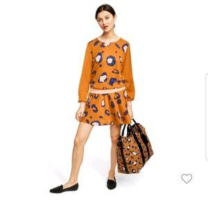 Phillip lim Leopard print A line mini skirt size10